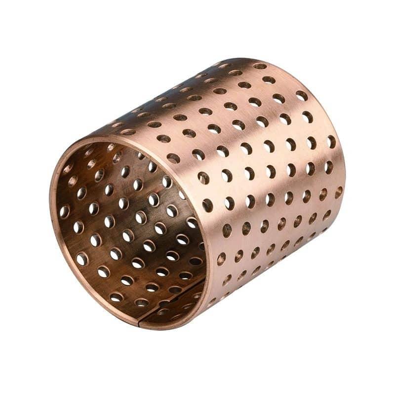 Wrapped bronze plain bearings