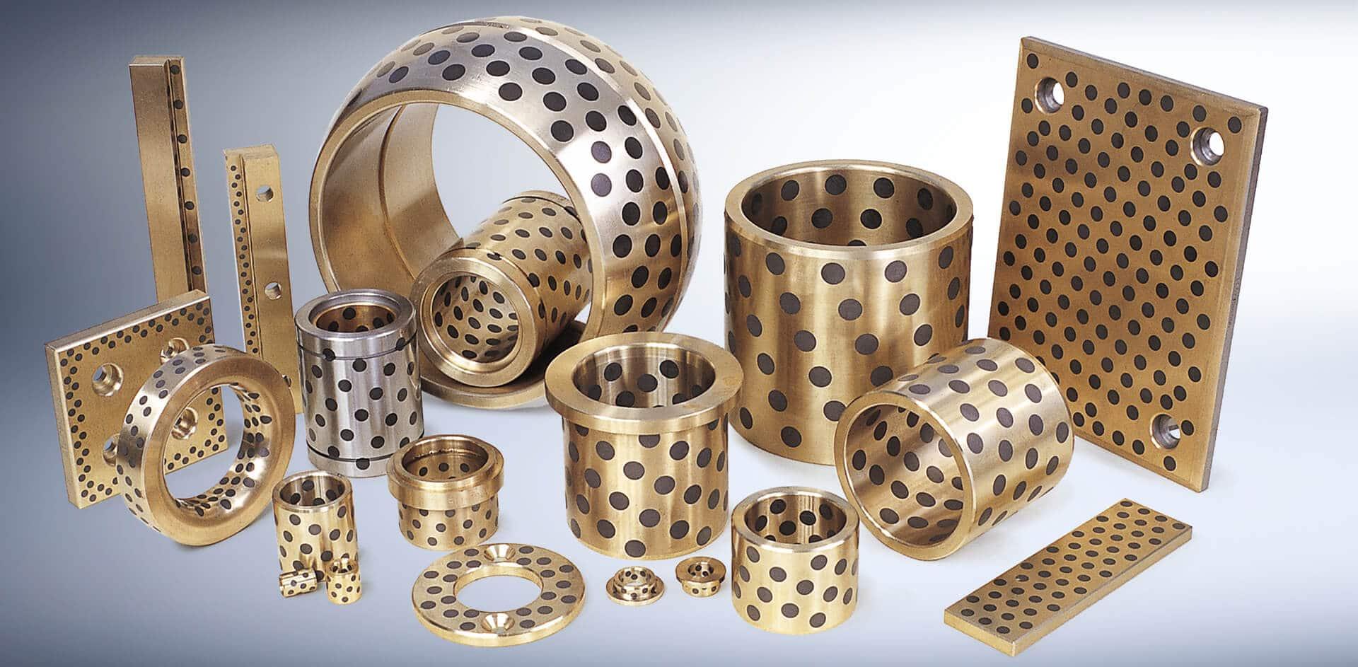 Oilless wear plate guide bushing self-lubricating bearings graphite