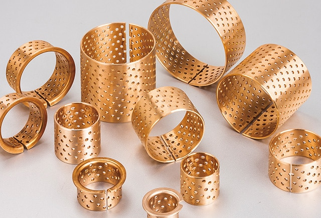 Bronze Wrapped Bearings with Through Holes