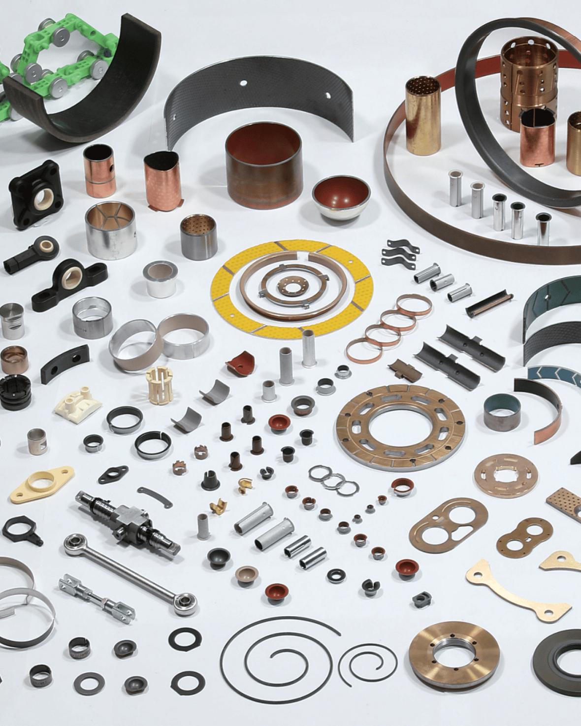 Metal polymer composite plain bearings bushing washer