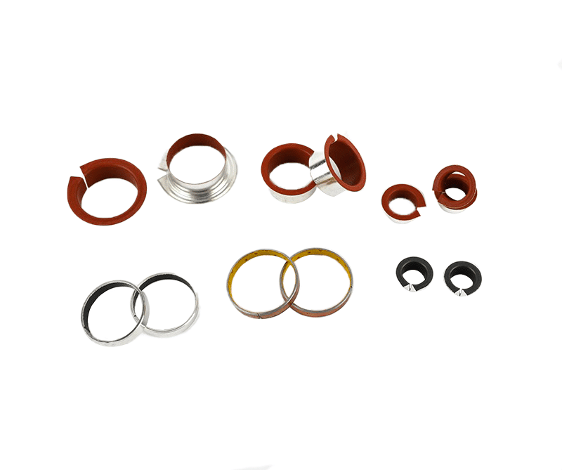 collar bushes red ptfe