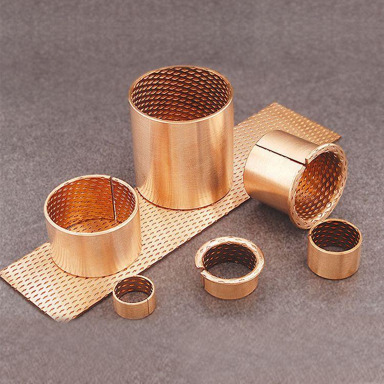 bronze bushing Wrapped Bronze Bearings, CuSn8P, Diamond oil pocket