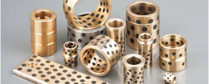 Solid inlaid self-lubricating bearings