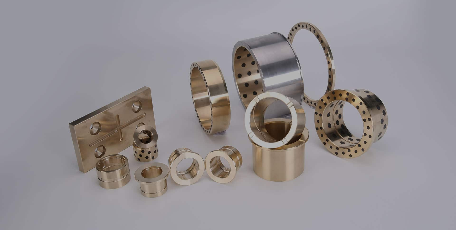 plugged graphite bronze bearings bushing